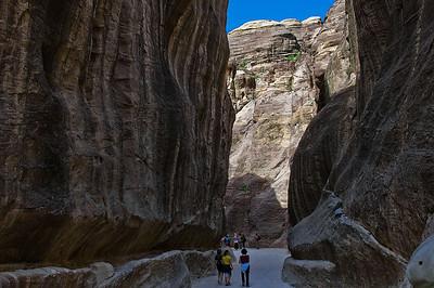 Entrance of canyon leading to Petra
