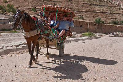 One way to travel into the ancient city of Petra