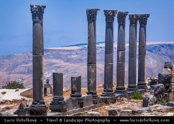 Middle East - Jordan - Hashemite Arab Kingdom of Jordan - Umm Qais - Ancient Gadara - One of the most brilliant ancient Greco-Roman cities of the Decapolis with a magnificent view over the Yarmouk River, the Golan Heights & Lake Tiberias - Sea of Galilee