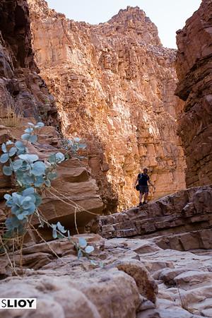 Hiking selfie on the Wadi Himara Waterfall Trail on Jordan's Dead Sea Coast.
