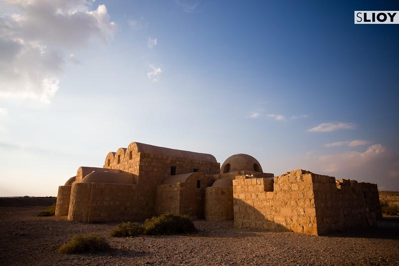 Exterior of Qusayr Amra Bathhouse in the Eastern Deserts of Jordan.