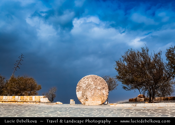 Middle East - Jordan - Hashemite Arab Kingdom of Jordan - Mount Nebo - جبل نيبو - Jabal Nibu - Elevated ridge 817 meters (2680 feet) above sea level - Place where Hebrew prophet Moses was given a view of the promised land that God was giving to the Israelites