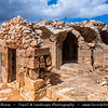 Middle East - Jordan - Hashemite Arab Kingdom of Jordan - Shobak Castle - Shoubak - Shawbak - Crusader Fortresses - Castle Ruins on the eastern side of the Arabah