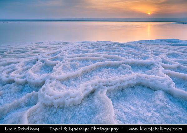 Jordan - Hashemite Arab Kingdom of Jordan - Dead Sea - The Lowest Point on Earth - Spectacular Natural & Spiritual Landscape - Sea of Salt during Sunset time