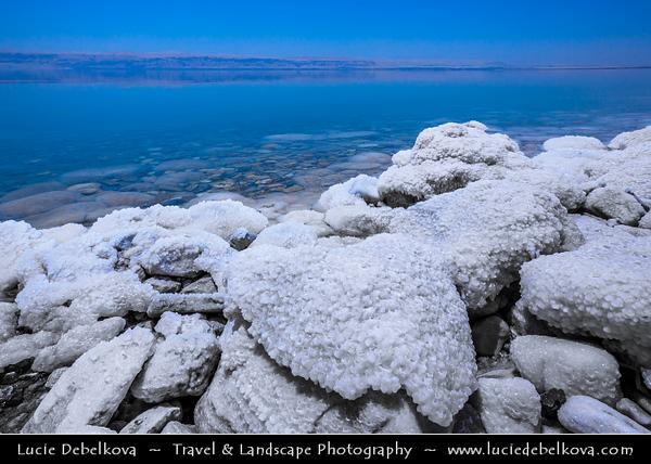 Middle East - Jordan - Hashemite Arab Kingdom of Jordan - Dead Sea - The Lowest Point on Earth - Spectacular Natural & Spiritual Landscape - Sea of Salt