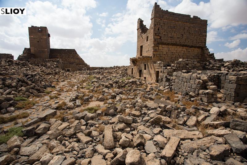 Ruins of Umm Al Jimal in the Eastern Deserts of Jordan.