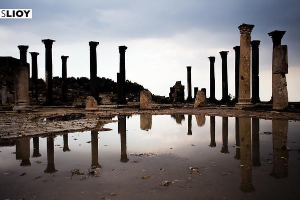 Ruins of Qasr Umm Qais in Northern Jordan.