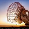 Middle East - GCC - Kuwait - Kuwaiti Desert - Destroyed Satellite Antenna near Al Mutla Ridge at Sunset