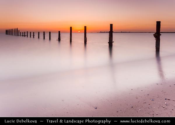 Middle East - GCC - Kuwait - Fahaheel - Sea shore of Kuwait Bay at Sunrise