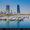 Middle East - GCC - Kuwait - Kuwait City - Souq Shark and City's Modern Skyline with high-rise buildings