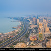 Middle East - GCC - Kuwait - Kuwait City - City's Modern Skyline with high-rise buildings along the seaside