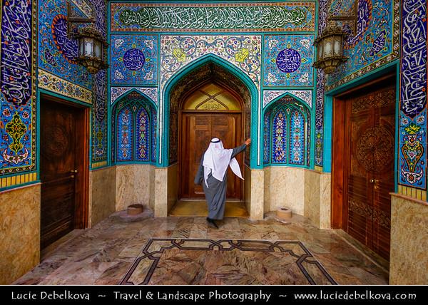 Middle East - GCC - Kuwait - Kuwait City - Mohammad Al Baqer Mosque - Beautiful blue iranian tiles Shia Masjed
