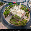 Middle East - GCC - Kuwait - Kuwait City - City's Modern Skyline with Al-Shamlan Mosque - Historical old mosque built inside roundabout