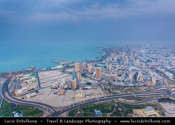 Middle East - GCC - Kuwait - Kuwait City - City's Modern Skyline - Bneid Al Gar along the Corniche