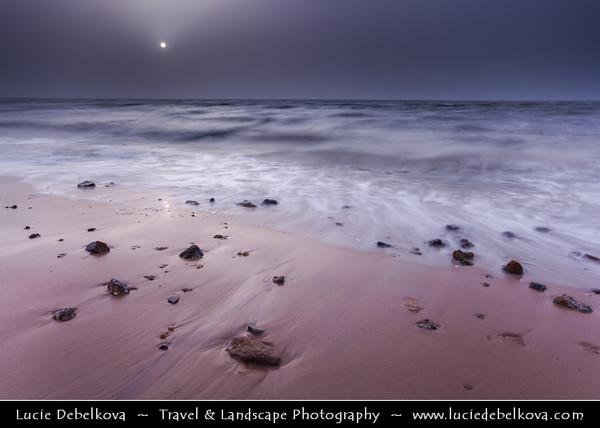 Middle East - GCC - Kuwait - Kuwait City - Al Shuwaikh beach - Favorite part of seaside corniche at Sunset during Sand Storm