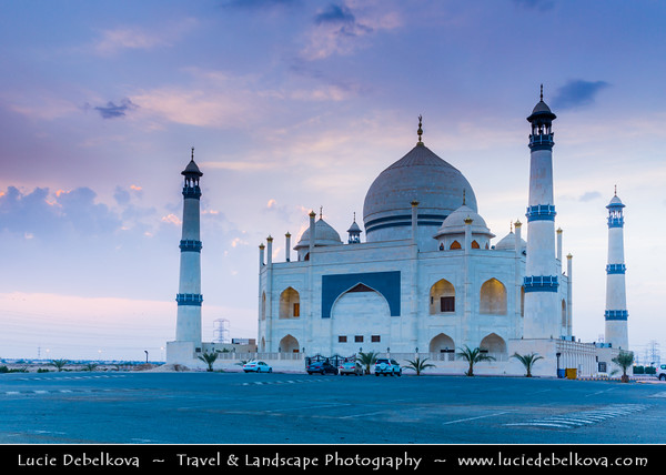 Middle East - GCC - Kuwait - Kuwait City - Dahiya Abdullah Mubarak - Siddiqua Fatima Zahra Mosque - Sadeeqa Fatimatul Zahra Masjid - Shia mosque built in style of India's Mughal emperor Shah Jahan's iconic memorial to his wife - Taj Mahal