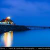 Middle East - GCC - Kuwait - Kuwait City - Seaside Pier at Dusk - Twilight - Blue Hour - Night