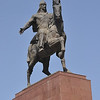 Manas statue on square in Bishkek