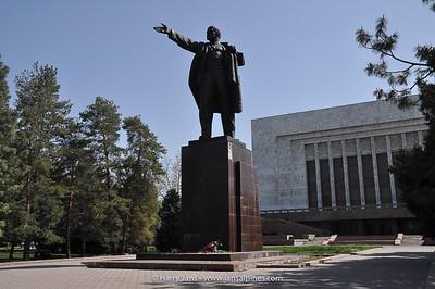 Lenin statue in Bishkek