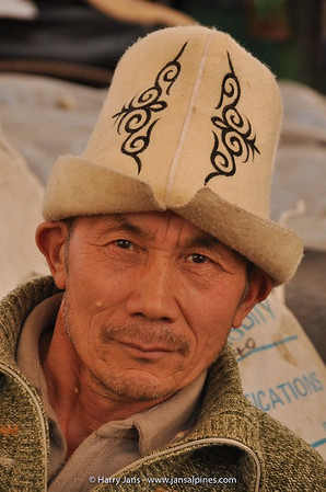 man with Kalpak, traditional hat