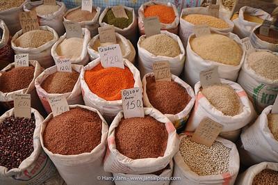 many different sorts of rice (Bishkek market)