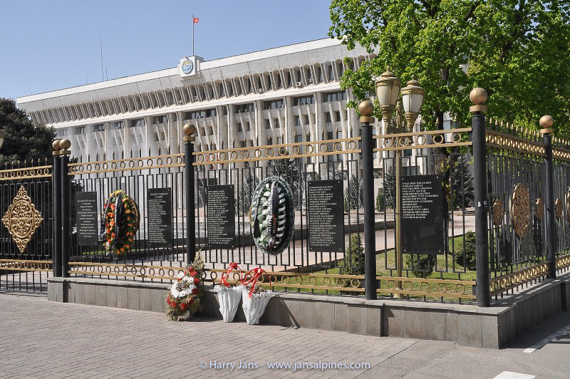 the White House in Bishkek (parlement)