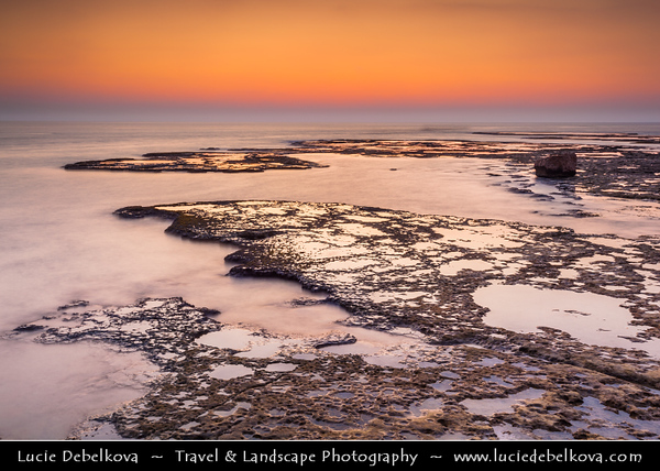 Lebanon - Libnān - Lubnān - Byblos - Gebal - Βύβλος - جبيل - Jubayl - Ancient Town on shores of Mediterranean Sea - Oldest continuously-inhabited city in the world - UNESCO World Heritage Site - Historic Quarter Marina - Sunset over Coral Reef
