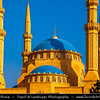 Lebanon - Libnān - Lubnān - Beirut - وت - Bayrūt - Beyrouth - Capital City on shores of Mediterranean Sea - Mohammad Al-Amin Mosque located in Martyrs' Square - Blue-domed mosque has an Ottoman inspiration, copying the Sultan Ahmed Mosque in Istanbul