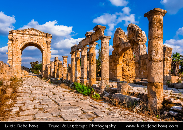 Lebanon - Libnan - Lubnan - Liban - Tyre - Sour - Ancient Phoenician City on shore of Mediterranean Sea - UNESCO World Heritage Site - Phoenician Vestiges - Remains of ancient city at Al Mina excavation site