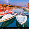 Lebanon - Libnān - Lubnān - Byblos - Gebal - Βύβλος - جبيل‎ - Jubayl - Ancient Town on shores of Mediterranean Sea - Oldest continuously-inhabited city in the world - UNESCO World Heritage Site - Historic Quarter Marina with Boats in Harbour