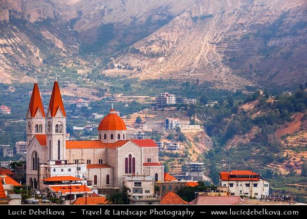 Lebanon - Libnān - Lubnān - Kadisha Valley - Qadisha Valley - Wadi Qadisha - Ouadi Qadisha - UNESCO World Heritage Site -  Maronite Christian area dotted with mountainside churches - Deep gorge carved by the Kadisha River - Christian monastic communities for many centuries