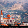 Lebanon - Libnān - Lubnān - Kadisha Valley - Qadisha Valley - Wadi Qadisha - Ouadi Qadisha - UNESCO World Heritage Site -  Maronite Christian area dotted with mountainside churches - Deep gorge carved by the Kadisha River - Christian monastic communities for many centuries