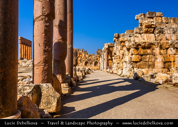 Lebanon - Libnān - Lubnān - Liban - Beqaa Valley - Baalbek - Baalbeck - Baʻalbak - UNESCO World Heritage Site - Heliopolis - Exquisitely detailed yet monumentally scaled temple ruins of the Roman period – One of wonders of the ancient world, containing some of the largest and best preserved Roman ruins