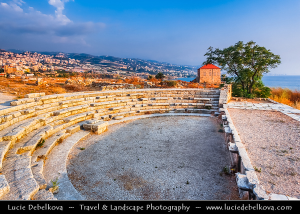 Lebanon - Libnān - Lubnān - Byblos - Gebal - Βύβλος - جبيل‎ - Jubayl - Ancient Town on shores of Mediterranean Sea - Oldest continuously-inhabited city in the world - UNESCO World Heritage Site - Historic Quarter - Area of Byblos Crusaders Castle - Roman Amphitheatre Built in 200 BC - Semicircular shaped Orchestra, where artists performed