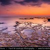 Lebanon - Libnān - Lubnān - Byblos - Gebal - Βύβλος - جبيل‎ - Jubayl - Ancient Town on shores of Mediterranean Sea - Oldest continuously-inhabited city in the world - UNESCO World Heritage Site - Historic Quarter Marina - Sunset over Coral Reef