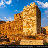 Lebanon - Libnān - Lubnān - Byblos - Gebal - Βύβλος - جبيل‎ - Jubayl - Ancient Town on shores of Mediterranean Sea - Oldest continuously-inhabited city in the world - UNESCO World Heritage Site - Historic Quarter - Byblos Crusaders Castle - 12th century indigenous limestone site with remains of Roman structures