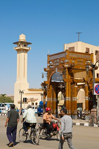 At the southern entrance to the souq