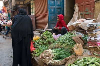 Fresh produce in the souq