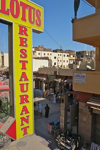 The view of the souq from the Lotus restaurant