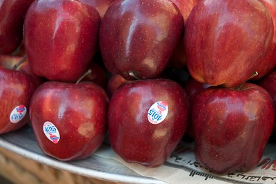 Expensive Washington apples in Egypt.
