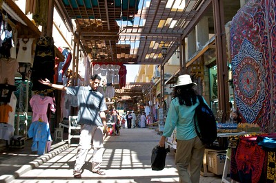 Hawkers in the souq