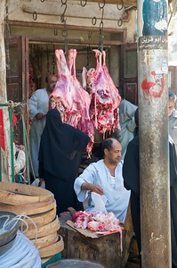The butcher in the souq
