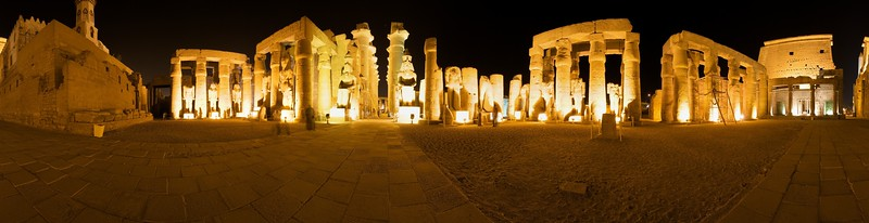 360° panorama just inside the main entrance to the Luxor Temple in Luxor, Egypt. Here's the QTVR version (784Kb)