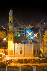 The mosque at night