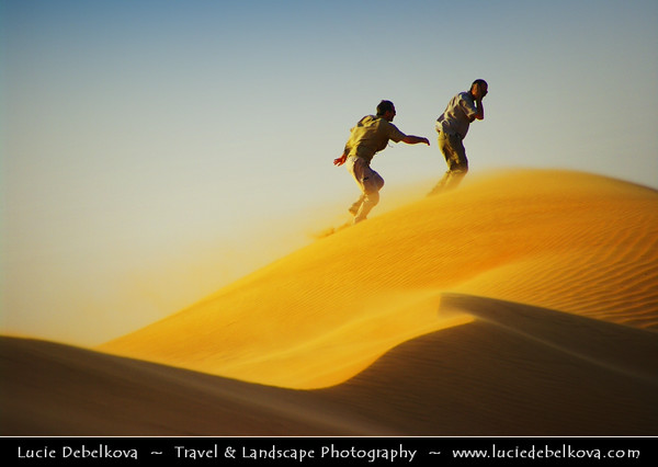 Middle East - Sultanate of Oman - Wahiba Sands - Ramlat al-Wahiba - Sharqiya Sands - Large desert area with beautiful sands dunes