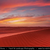 Middle East - Sultanate of Oman - Wahiba Sands - Ramlat al-Wahiba - Sharqiya Sands - Large desert area with beautiful sand dunes at stunning pink sunset