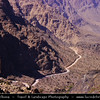 Middle East - Sultanate of Oman - Hajar Mountains - جبال الحجر‎ - Stone Mountains - Spectacular wall of mountains with dramatic canyons and rocky valleys in northeastern Oman