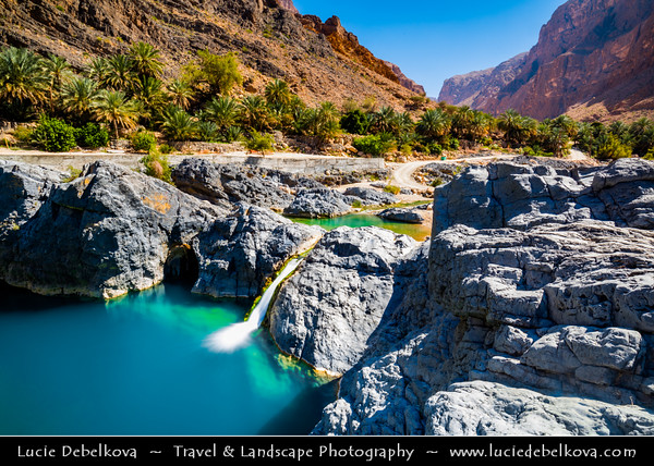 Middle East - Sultanate of Oman - Wadi al Arabiyin - Wadi Arbayeen - Wadi Al Arbaeen - Wadi Al Arabiyeen - Wadi Al Arabieen - Mountain valley with fresh water pools