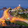 Middle East - Sultanate of Oman - Muscat - مسقط - Masqaṭ - Muscat Port - Port Sultan Qaboos - Muttrah corniche - Giant Incense Burner - Symbol of the Sultanate of Oman - Dusk - Twilight - Blue Hour - Night