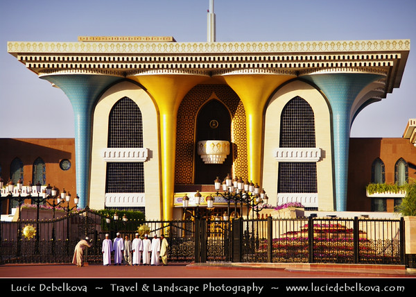 Middle East - Sultanate of Oman - Muscat - مسقط - Masqaṭ - Al Alam Royal Palace - Grand palace located at Muttrah - Old Muscat